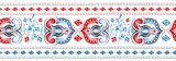 seamless border, pattern with watercolor geometric, botanic. Ethnic ornaments. Abstract tribal background. rim with floral illustration. - 230784232