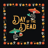 Day of the dead mexican celebration greeting card - 230788458