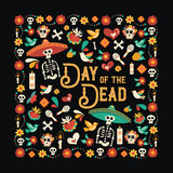 Day of the dead mexican celebration greeting card - 230788663