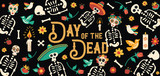 Day of the dead mexican skull celebration card - 230789093