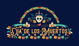 Day of the dead spanish language greeting card - 230790430