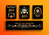 Day of the dead mexican holiday card collection - 230790654