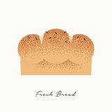Fresh Bread food illustration concept - 230791043