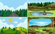 Green nature view landscape