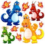 Set of angry dragon - 230793249