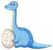 A dinosaur and egg