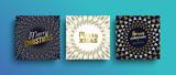 Merry Christmas gold boho greeting card set - 230793815