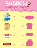 Food shadow matching game template - 230794280