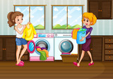 Woman laundry in the room - 230794621