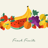 Organic fresh fruit healthy food menu background - 230794852