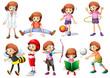 Set of girl activity
