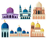 Set of different mosque building - 230796062