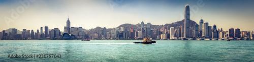 Hong Kong skyline. Panorama