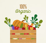 Organic food concept with healthy vegetables - 230797863