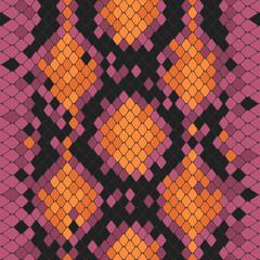 Seamless pattern with toxic python print © katerina_vitchenko
