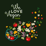 We love vegan food card for healthy eating - 230799261