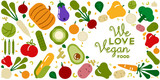 We love vegan food card for healthy eating - 230800279