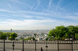 Aerial view of Paris from Montmartre