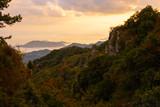 夕方の山並みと風景 - 230821225