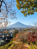 Fuji mountain with blue sky background in autumn, Japan - 230826220