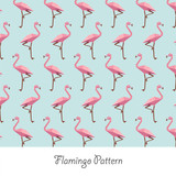Flamingo Papercraft Pastel pattern
