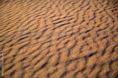 canvas print picture fantastic texture with shadows in the sand desert