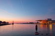 Leinwanddruck Bild - The Copenhagen Opera House  at night