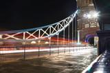 night scene of the Tower bridge in London United Kingdom - long exposure photography