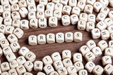 Trends word on dice letters in chaos table - 230838495