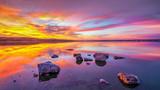 Colourful Sunrise over the lake