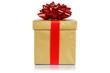 Geburtstag Weihnachten Geschenk Weihnachtsgeschenk Geburtstagsgeschenk Schachtel gold golden Freisteller