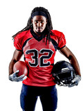 one american football player man isolated on white background - 230870219