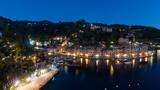 Elevated night scene of the waterfront, Portofino - 230875631