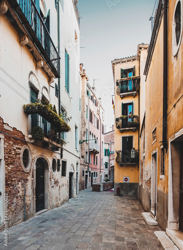 Narrow street in Venice  - 230880022