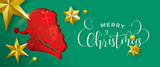 Layered Christmas banner of paper cut santa claus - 230880813