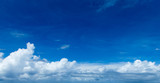 blue sky background with tiny clouds. panorama - 230884812