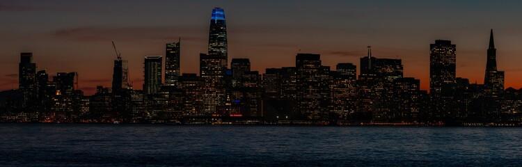 San Francisco skyline lights at dusk © Photo_Time
