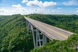 huge bridge against the blue sky