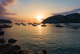 Evening mood in Port Andraitx with sunset, Mallorca, Spain - 230895264