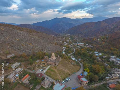 General view of the monastery complex Goshavank, Armenia.