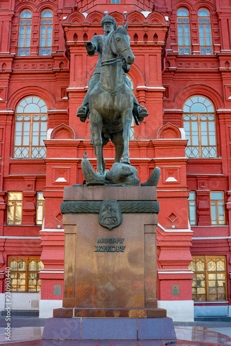 City the Moscow .The monument to Marshal G. K. Zhukov.the Beautiful places that fascinate tourists.22.09.2018