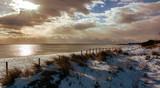 Spiaggia con neve a Porto Cesareo (LE)
