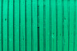Surface of an empty green wooden panel for interior design and exterior decoration.