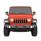 off-road vehicle jeep vector illustration front