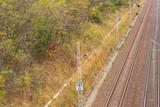 Fahrleitungen an den Gleisen