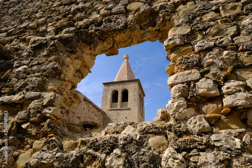 Old town Stari grad on Pag island in Croatia - 230948083