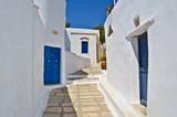 Alley in Isternia village, Tinos, Cyclades islands, aegean sea, Greece