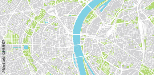 Urban vector city map of Cologne, Germany | Buy Photos | AP Images ...