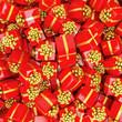 Geschenke in rot mit goldner Schleifen - Weihnachtsgeschenke - Geburtstagsgeschenke