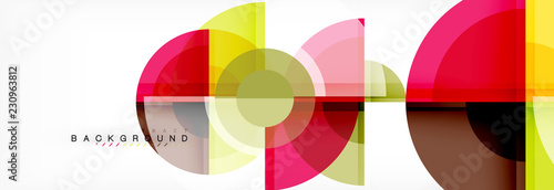 Vector fantastic circle modern geometric background template